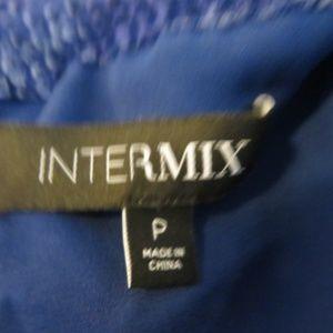 Intermix Tops - INTERMIX ROYAL BLUE VELOUR CROSSOVER BLOUSE P/S*